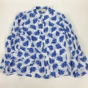 Micheal Kors Flared Sleeves Blouse